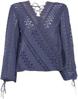Bardot Long Sleeved Embroidered Detail Back Top