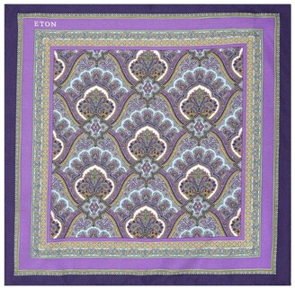Eton Silk Paisley Pocket Square