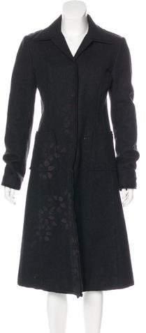 Philosophy di Alberta Ferretti Wool Long Coat