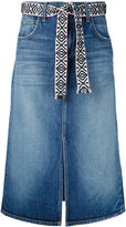 Current/Elliott midi denim skirt