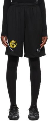Balenciaga Black Sporty Mesh Shorts