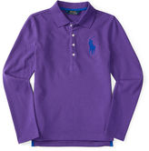 Ralph Lauren 2-6X Big Pony Stretch Mesh Polo