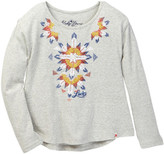 Lucky Brand Geometric Embroidered Top (Little Girls)
