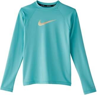 Nike Swim Girl's Swoosh Dri-FIT Rash Guard