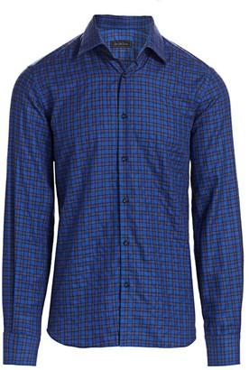 Saks Fifth Avenue Mini Check Print Shirt