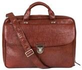 Boconi Men's 'Mathews' Leather Commuter Bag - Brown