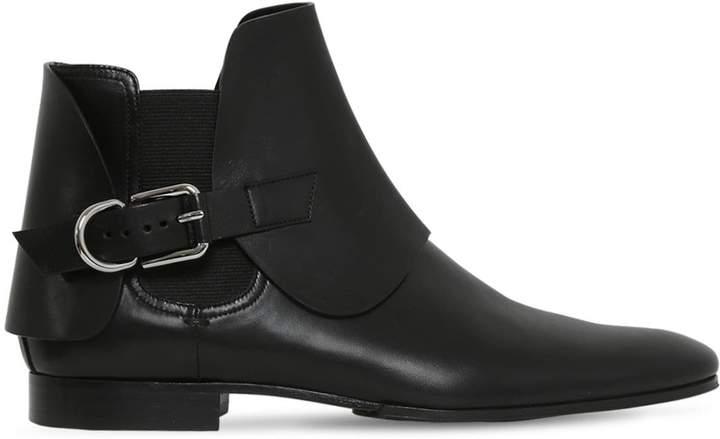 Balmain 20mm Leather Chelsea Boots