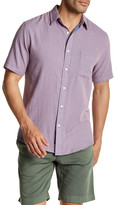 Faherty Short Sleeve Gingham Plaid Print Regular Fit Shirt