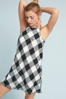 Cloth & Stone Magdala Frayed Gingham Dress