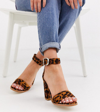 Raid Exclusive Fleur leopard heeled sandals