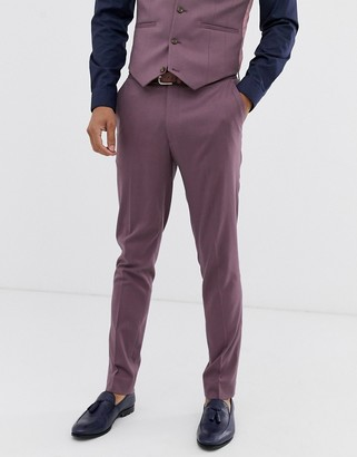 ASOS DESIGN wedding skinny suit pants in lavender