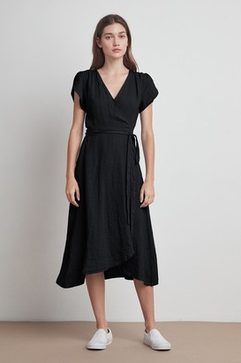 Velvet by Graham & Spencer Posie Woven Linen Wrap Dress