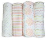 Swaddle Designs Muslin Swaddle Blankets 4pk - Heavenly Floral Shimmer