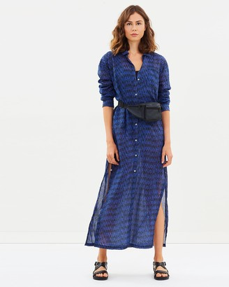 Double Rainbouu Sitar Noir Maxi Shirt Dress