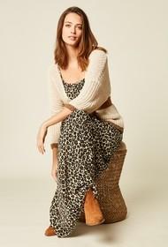 Stella Forest Long Leopard Print Dress - 40 (12)