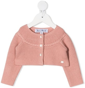 Tartine et Chocolat Round Neck Cropped Cardigan