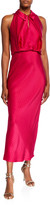 Zac Posen Sleeveless Keyhole Midi Dress