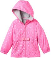 Osh Kosh Toddler Girl Lightweight Fleece-Lined Foil Heart Print Transitional Jacket