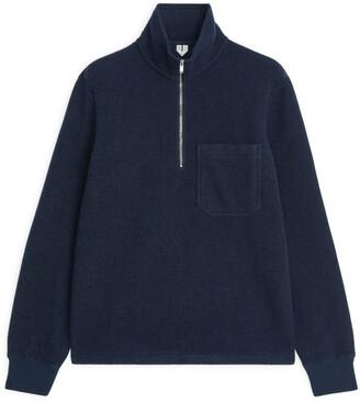 Arket Wool Pile Half-Zip Jumper