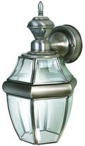Heath Zenith 150 Degree Silver Hanging Carriage Lantern with Clear Beveled Glass