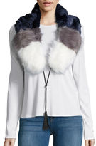 Steve Madden Colorblocked Faux Fur Stole