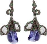 Arunashi Tanzanite And Tahitian Pearl Earrings