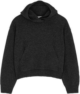 Nanushka Mog Charcoal Wool-blend Sweatshirt