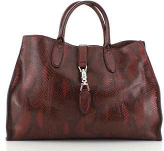 Gucci Jackie Soft Tote Python Large