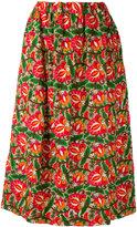 Comme des Garcons floral print skirt - women - Rayon - S