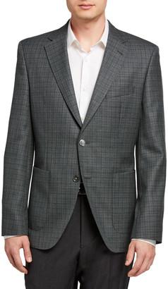 BOSS Men's Micro-Plaid Two-Button Jacket
