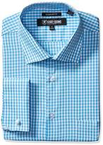 Stacy Adams Men's Gingham Check Dress Shirt