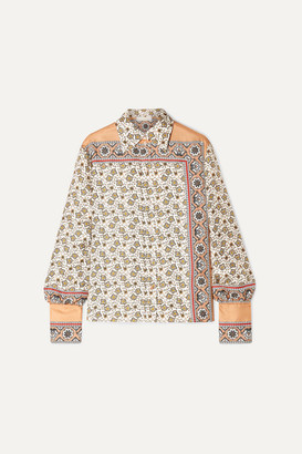 Chloé Printed Silk-satin Shirt - White