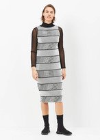 Issey Miyake black / white tribal print sleeveless dress