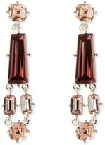 Vince Camuto Geo Jeweled Drop Clip-on Earrings
