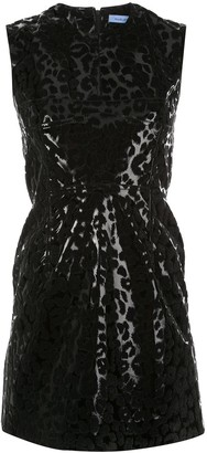 Thierry Mugler leopard print mini dress