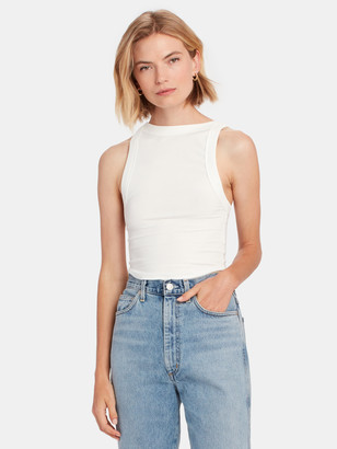 The Line By K Ximeno High Neck Cropped Tank