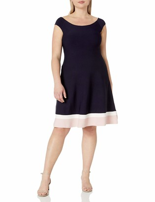 Eliza J Women's Plus Size Fit & Flare Knit Dress