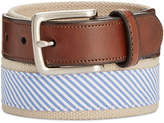 Club Room Men's Striped Casual Belt, Created for Macy's