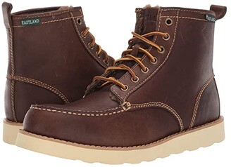 Eastland 1955 Edition Lumber Up Fleece Lined (Shearling Lined Dark Tan) Men's Lace-up Boots