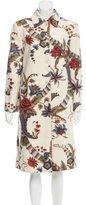 Carolina Herrera Wool Floral Print Coat