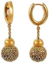 Pierre Cardin Réunion S.PCCO90211E000 Women's Creole Earrings 925 Sterling Silver Rhodium-Plated Glass Zirconia Multi-Coloured