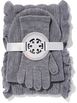 New York & Co. 3-Piece Ruffle Scarf, Hat & Gloves Set