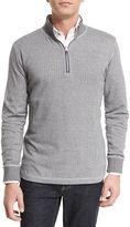 Robert Graham Alastor Mini-Chevron Half-Zip Sweater, Navy