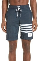 Thom Browne Men's 4-Bar Print Tech Board Shorts