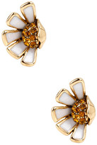 Betsey Johnson Half Daisy Stud Earrings