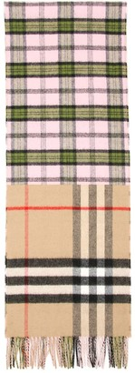 Burberry Tartan And Giant Check Scarf