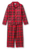 Komar Kids Boys' 2-Piece Holiday Plaid Pajama Set - Red
