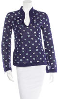 Tory Burch Patterned Long Sleeve Top