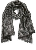 Badgley Mischka Women's Floral Jacquard Scarf