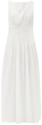 Sir. Alina Pintucked Cotton-blend Maxi Dress - Ivory